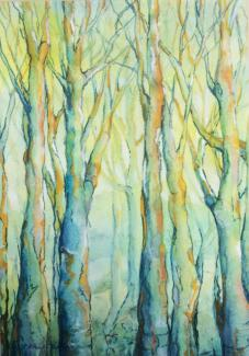 Beyond the Trees - an original artwork by Pat Rhead-Phillips