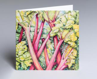Rhubarb Rhubarb - an original fine art greetings card by Pat Rhead-Phillips