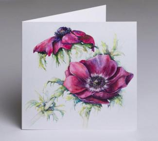 Anemones - an original fine art greetings cards by Pat Rhead-Phillips