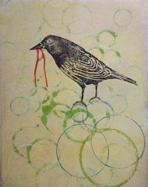 Hanging by a Thread- an original artwork by Pat Rhead-Phillips